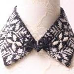 Winter lover knitted detachable col..