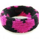 Knit fabric covered bangle