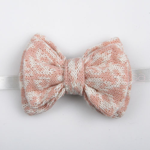 Double Layer Knitted Bow Tie In Leopard Pattern on Luulla
