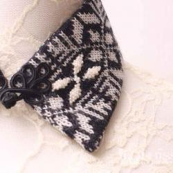 Winter lover knitted detachable collar
